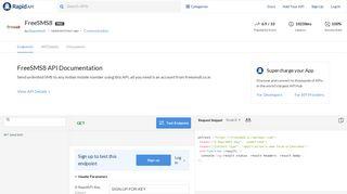 FreeSMS8 API Documentation - Mashape