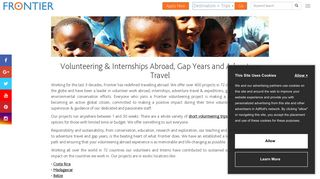 Volunteer with Frontier - Ethical and Inspiring Adventures