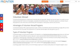 Volunteer Abroad - Travel Ethically & Responsibly | Frontier