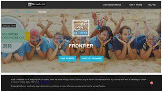 Frontier Programs & Reviews | GoAbroad.com
