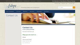 Contact Us | FSBPT