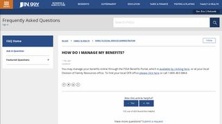 How do I manage my benefits? – IN.gov