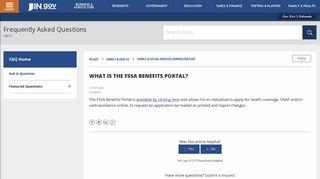What is the FSSA Benefits Portal? – IN.gov