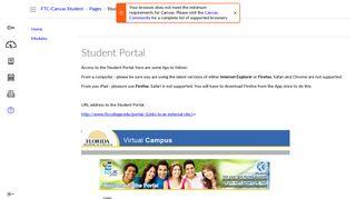 Student Portal: FTC Canvas Student Orientation