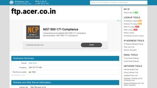 ftp.acer.co.in - Acer Ftp   IPAddress.com