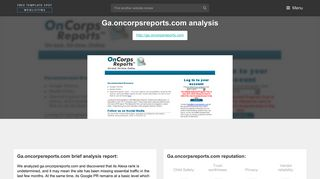 Ga On Corps Reports. OnCorps Reports™ - The Online Reporting ...