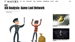 ICO Analysis: Game Loot Network | Hacked.com - Hacking Finance