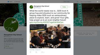 Georgetown Day School on Twitter: