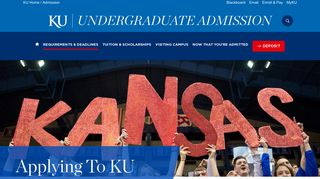 Applying to KU | The University of Kansas - KU Admissions