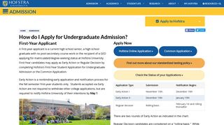 Undergrad First-Year Students | Hofstra | New York