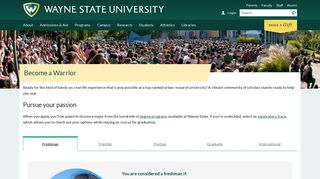 Become a Warrior - Wayne State University