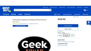 Online Device Diagnostic and Repair (Remote Service) - Best Buy
