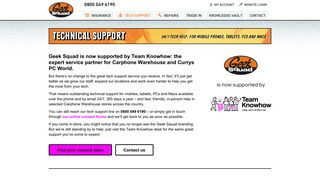 Tech support | Geek Squad