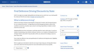 Find Defensive Driving Discounts by State | GEICO
