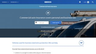 Commercial Auto Insurance - Get a Free Quote | GEICO