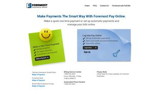 Make Payments Online - Foremost Insurance Group