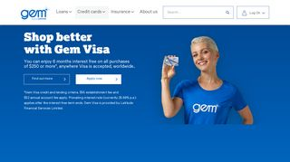 Gem Visa Credit Card - Credit Cards NZ | Gem Finance