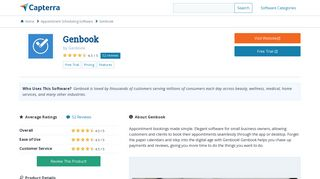 Genbook Reviews and Pricing - 2019 - Capterra