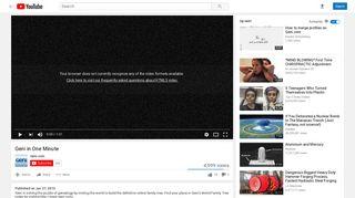 Geni in One Minute - YouTube