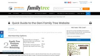 Quick Guide to the Geni Family Tree Website - Family Tree