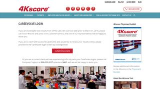 BioReference CareEvolve Clinician Login | 4Kscore Test