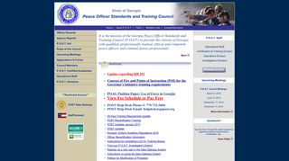 Georgia Peace Officer Standards and Training Council