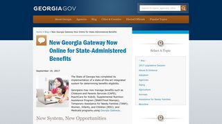 New Georgia Gateway Now Online for State-Administered Benefits ...
