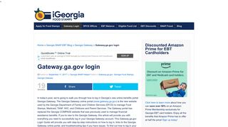 Gateway.ga.gov login - Georgia Food Stamps Help