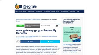 www.gateway.ga.gov Renew My Benefits - Georgia Food Stamps Help