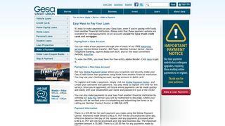 Gesa Credit Union - Make a Payment