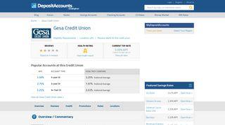 Gesa Credit Union Reviews and Rates - Washington - Deposit Accounts