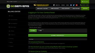 Logging In To Your Control Panel - Knowledgebase - GGServers Ltd.