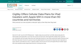 GigSky Offers Cellular Data Plans for iPad travelers with Apple SIM ...