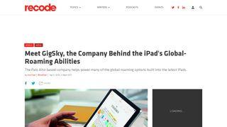 Meet GigSky, the Company Behind the iPad's Global-Roaming ...
