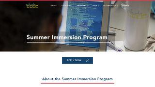 Summer Immersion Program - Girls Who Code