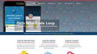 Girls Who Code Loop - girlswhocode