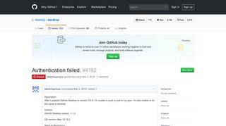 Authentication failed. · Issue #4162 · desktop/desktop · GitHub