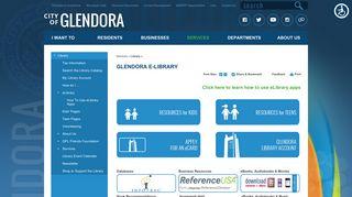 Glendora e-Library | City of Glendora