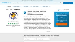 Top 359 Reviews and Complaints about Global Vacation Network