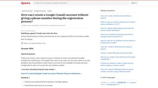 How to create a Google (Gmail) account without giving a phone ...
