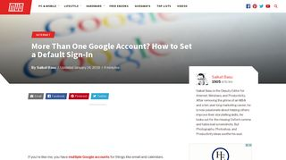More Than One Google Account? How to Set a Default Sign-In