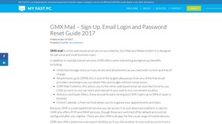 GMX Mail - Sign Up, Email Login and Password Reset Guide 2017