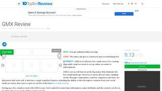 GMX Review - Pros, Cons and Verdict - Top Ten Reviews