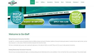 Welcome to Go-Staff   Go-Staff - Southern California Staffing
