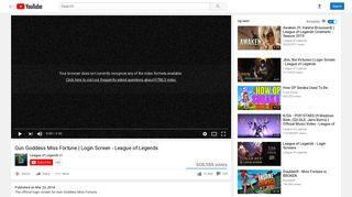 Gun Goddess Miss Fortune | Login Screen - League of Legends ...