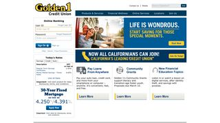 Golden 1 Credit Union | Home