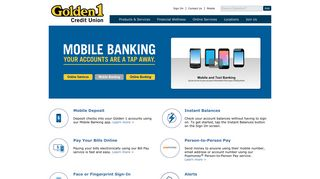 Golden 1 Credit Union | Mobile Banking Services