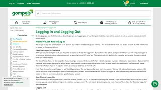 Logging In and Logging Out - Gompels HealthCare