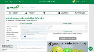 Make Payment - Gompels HealthCare Ltd - Gompels HealthCare