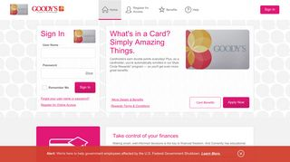 Goody's Credit Card - Manage your account - Comenity